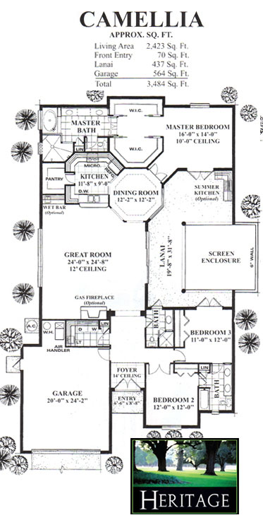 Heritage homes floor plans new home community in florida for Summerlake house plan